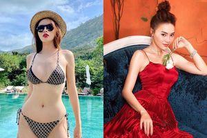 Kỳ Duyên khoe dáng với bikini, Ninh Dương Lan Ngọc diện váy đỏ gợi cảm