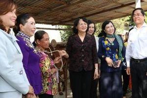 Phó Chủ tịch nước Đặng Thị Ngọc Thịnh làm việc tại Tây Ninh, tặng bò cho phụ nữ nghèo