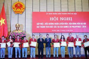 Hà Nội thưởng 6,255 tỷ đồng cho các VĐV, HLV xuất sắc tại SEA Games 30