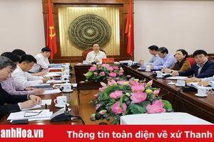 Thường trực Tỉnh ủy cho ý kiến vào chủ trương đầu tư một số dự án trên địa bàn tỉnh