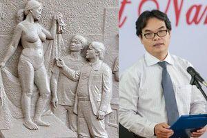 Ồn ào quanh bức phù điêu 'rất giống' Hiệu trưởng Trường Đại học Mỹ thuật Việt Nam