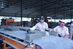 Gạch không nung chiếm khoảng 30% tổng sản lượng vật liệu xây vào năm 2020