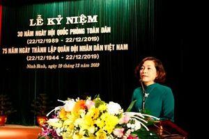 Kỷ niệm 30 năm ngày hội Quốc phòng toàn dân, 75 năm ngày thành lập Quân đội nhân dân Việt Nam