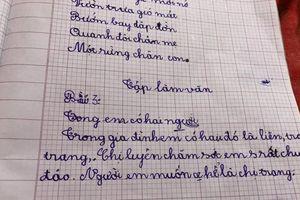 Pha 'bẻ lái ngoạn mục' trong bài văn tả chị gái của học sinh lớp 1