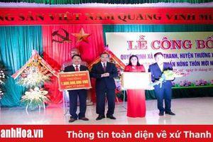 Xã Thọ Thanh, huyện Thường Xuân đón QUyết định công nhận xã đạt chuẩn nông thôn mới