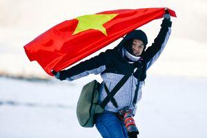 Nô giỡn với tuyết trong giá lạnh âm 9 độ C ở Hàn Quốc