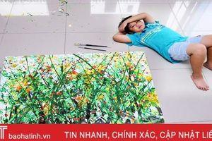 Ngắm các tác phẩm của 'thần đồng hội họa Việt Nam' được ví như danh họa Pollock