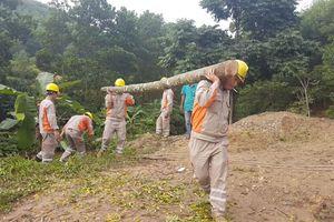 Điện lực Hương Sơn giúp xã Sơn Lĩnh làm nông thôn mới