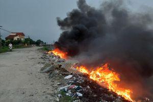 Kiên quyết ngăn chặn nạn đốt rác bừa bãi