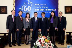 Bộ trưởng Ngoại giao Lào thăm, làm việc tại Học viện Ngoại giao