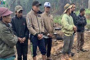 Khởi tố 10 đối tượng phá rừng giáp ranh Đắk Lắk-Khánh Hòa