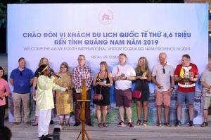 Quảng Nam: Chào đón vị khách quốc tế thứ 4,6 triệu năm 2019