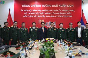 Bộ trưởng Bộ Quốc phòng Ngô Xuân Lịch thăm và làm việc tại Lào