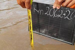 Quốc lộ 1 ở Đồng bằng sông Cửu Long lún đều 30cm, nhiều đoạn bị ngập