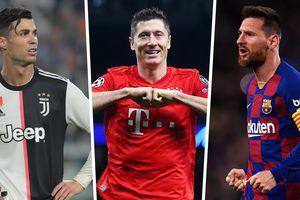 Messi, Ronaldo & Top 10 tiền đạo 'mắn' bàn thắng nhất châu Âu năm 2019