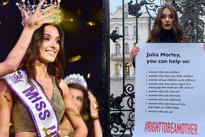 Cựu Hoa hậu Ukraine biểu tình đòi cho phụ nữ kết hôn thi Miss World