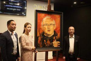 Đấu giá tranh vẽ HLV Park Hang Seo thu về 500 triệu đồng từ thiện