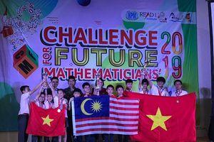 Việt Nam giành giải Nhất toàn đoàn tại kỳ thi 'Thử thách nhà toán học tương lai'