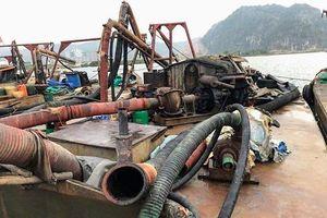 Bắt sáu tàu hút trộm cát trên sông Hốt