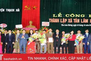 Thạch Hà công bố thành lập xã Tân Lâm Hương