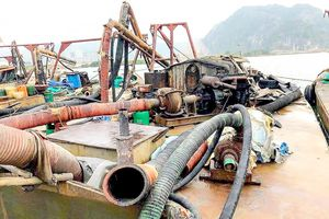 Quảng Ninh: Bắt 6 tàu hút cát trái phép
