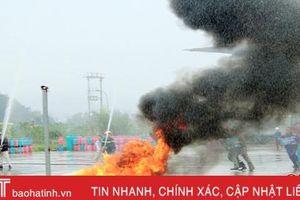 Hà Tĩnh: Diễn tập tình huồng phòng cháy chữa cháy tại trạm chiết nạp gas