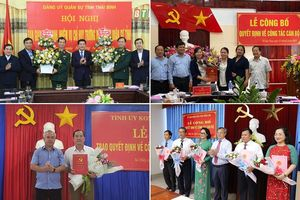 Thái Bình, Đồng Nai, Kon Tum có nhân sự, lãnh đạo mới