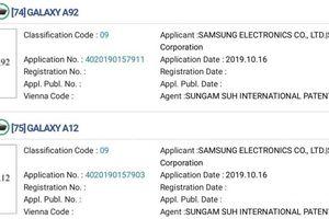 9 smartphone mới thuộc dòng Samsung Galaxy A được đăng ký nhãn hiệu