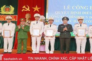 Điều động 23 công an chính quy về đảm nhiệm các chức danh công an 9 xã ở Hương Sơn và Lộc Hà