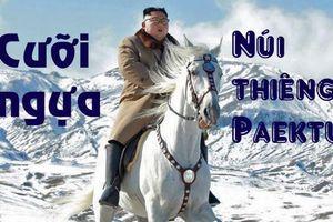 Cảnh tượng hùng vĩ Chủ tịch Triều Tiên cưỡi bạch mã lên núi thiêng