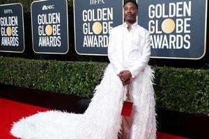 Thảm đỏ lễ trao Giải Quả cầu vàng: Nam diễn viên... diện đuôi váy thướt tha