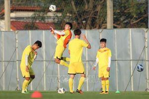 U23 Việt Nam tập luyện trên sân Chang Training Ground 1