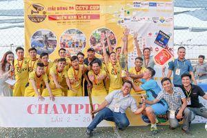 Đội Hồ Chí Minh 2 vô địch Giải bóng đá CCTV miền Nam lần 2