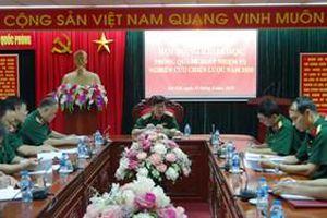 Chủ động nghiên cứu dự báo và tham mưu chiến lược quốc phòng