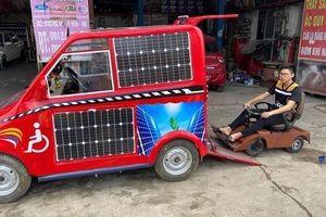 Nam sinh lớp 12 'trình làng' ô tô dành cho người khuyết tật chạy bằng năng lượng mặt trời