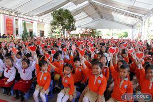 Cô và trò Trường Tiểu học Hải Thành xây dựng trường học hạnh phúc