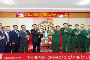 Bộ Chỉ huy quân sự và Ty An ninh tỉnh Khăm Muộn chúc tết BĐBP Hà Tĩnh