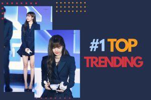 Vừa xuất hiện tại họp báo 'Idol Producer 2', Lisa (BlackPink) vươn lên dẫn đầu top trending toàn cầu