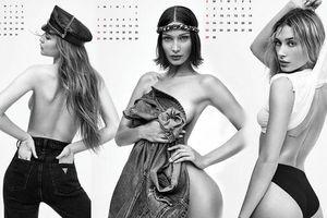 Gigi Hadid cùng dàn siêu mẫu đình đám đồng loạt 'cởi đồ' chụp ảnh lịch