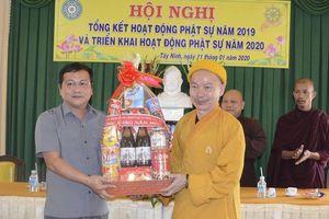 Tây Ninh : Chính quyền chúc Tết BTS Phật giáo tỉnh