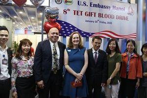 ĐSQ Mỹ tổ chức Ngày hội hiến máu lần thứ 8