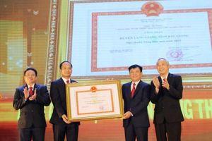 Huyện Lạng Giang đón bằng công nhận đạt chuẩn nông thôn mới