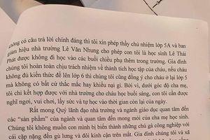 Một phụ huynh An Giang dũng cảm viết đơn xin cho con không học buổi chiều