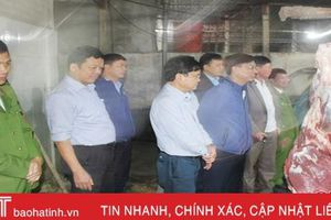 Các cơ sở giết mổ gia súc ở Thạch Hà chấp hành nghiêm các quy định