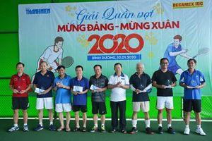 Tổng Công ty Becamex IDC – Báo Thanh niên tổ chức giải quần vợt mừng Đảng, mừng Xuân 2020