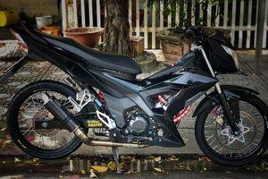 Honda Sonic 150 độ đẹp hú hồn với tông màu đen đơn giản