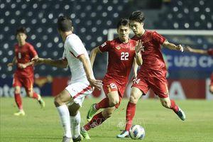 U23 Việt Nam cầm hòa trong hiệp đầu với U23 Jordan