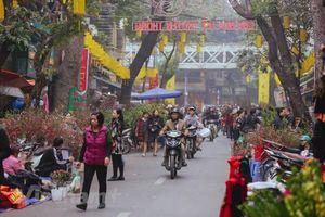 Rực rỡ sắc màu chợ hoa truyền thống trên phố cổ Hà thành