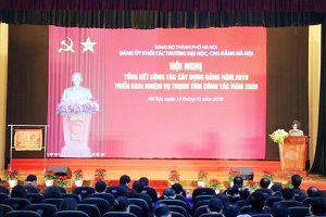 Năm 2020: Tăng cường công tác xây dựng Đảng của các trường đại học, cao đẳng Hà Nội để xây dựng và kiến thiết Thủ đô