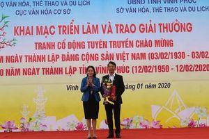 Trao giải tranh cổ động tuyên truyền chào mừng kỷ niệm 90 năm Ngày thành lập Đảng Cộng sản Việt Nam
